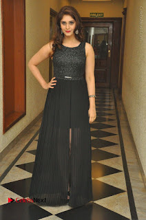 Actress Surabhi Stills in Black Long Dress at turodu Audio Launch  0080.JPG