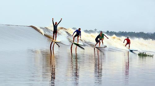 Surfing Bono Waves in Kampar River