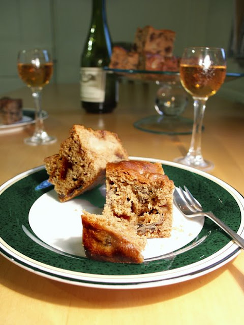Homemade pear and walnut cake, known as gateau medieval. Photo by Loire Valley Time Travel.