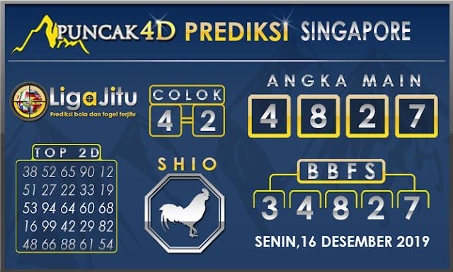 PREDIKSI TOGEL SINGAPORE PUNCAK4D 16 DESEMBER2019