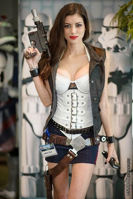 sexy han solo female cosplay