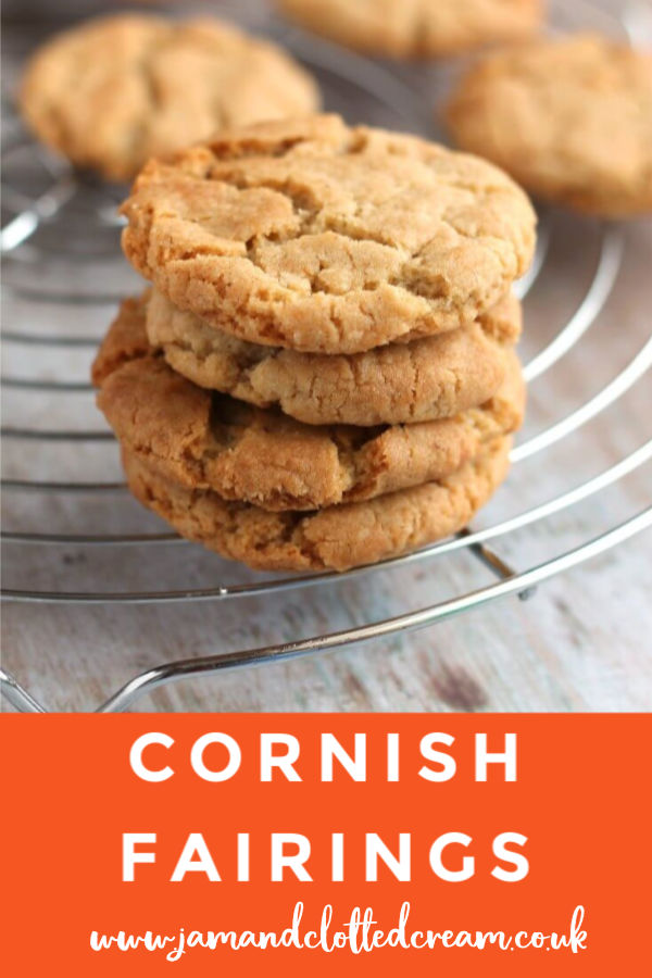 Cornish Fairings - a delicious gingery biscuit from Cornwall UK #biscuit #gingerbiscuit