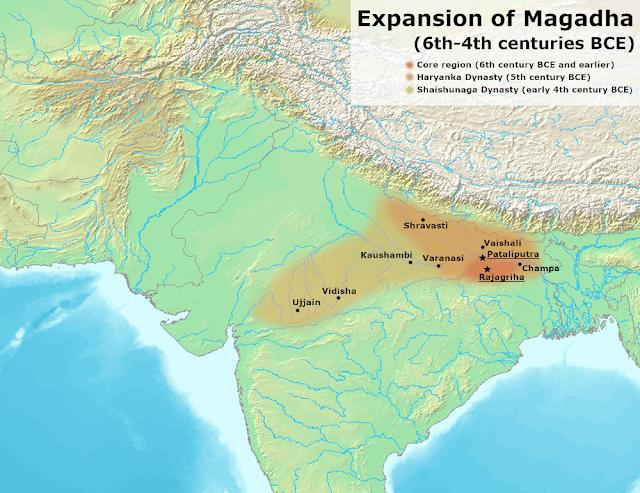 Ang desh - Champa in Magadha Empire Expansion Era  - Map