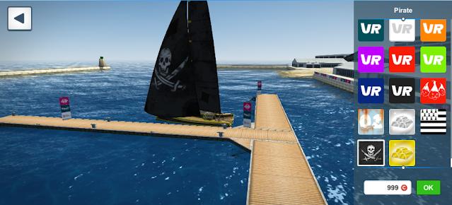 Virtual Regatta Pirate flag skin preparation offshore game browser sailing