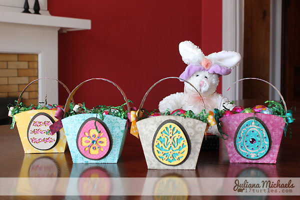 Easter Baskets from scrapbook paper by Juliana Michaels