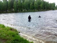 (ФОТО) Водолазы исследуют дно Рефтинского водохранилища