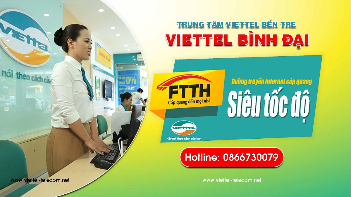 Cửa hàng Viettel Bình Đại- Tổng đài lắp mạng Internet Viettel, Truyền hình Viettel, Mua sim Viettel ở Bình Đại