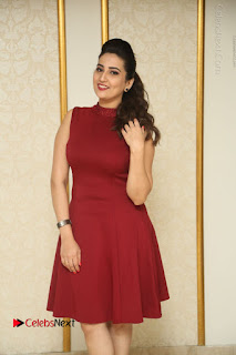 Telugu Tollywood Anchor Manjusha Pos in Red Short Dress  0005.JPG