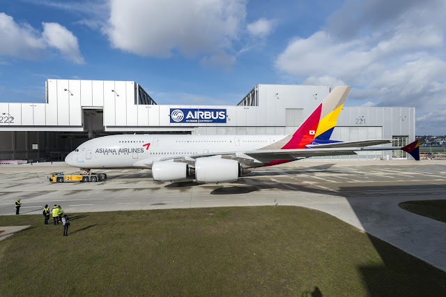 Asiana Airlines Airbus A380-800 After Paintshop The First Livery