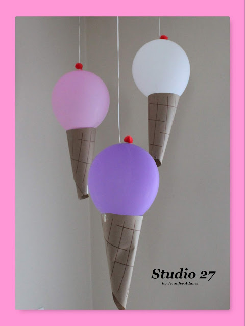 How to make your own ice cream cone balloons.