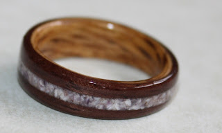 Wooden engagement ring custom made by David Finch