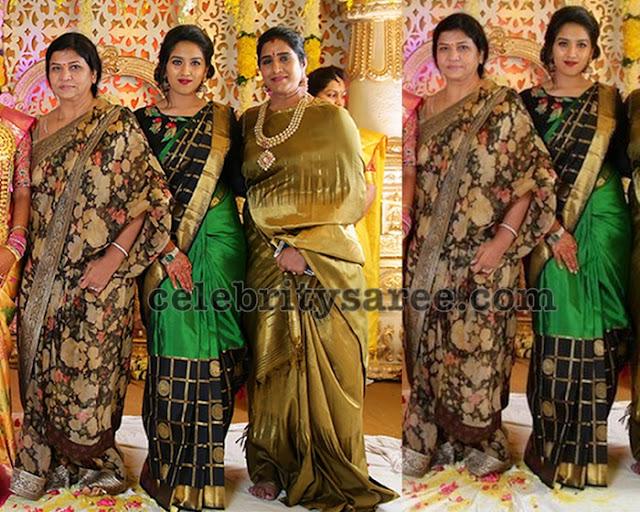 Mohan Babu wife Floral Sare