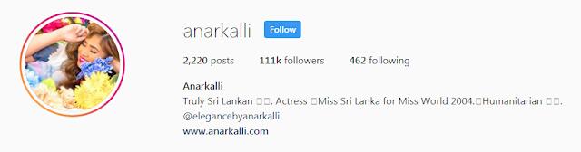 Anarkali Akarsha Instagram