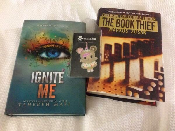 Ignite Me and The Book Thief covers