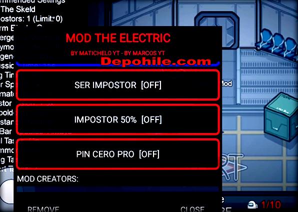 Among Us Electric Mod Menu Impostor Hilesi Apk Mart 2021