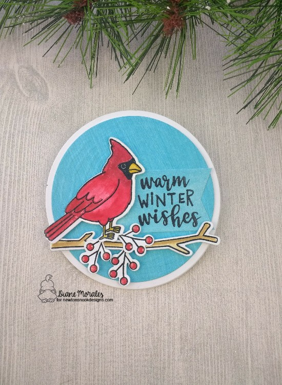 Warm Winter Wishes by Diane features Tree Rings and Winter Birds by Newton's Nook Designs; #newtonsnook