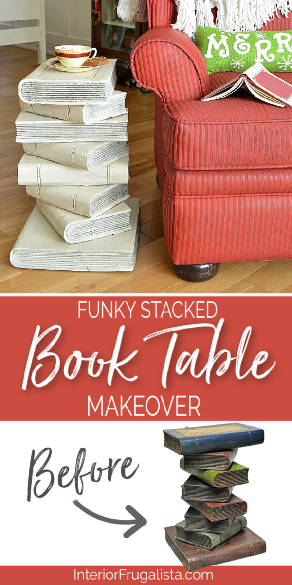 Upcycled Stacked Book Table