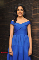 Actress Ritu Varma Pos in Blue Short Dress at Keshava Telugu Movie Audio Launch .COM 0044.jpg