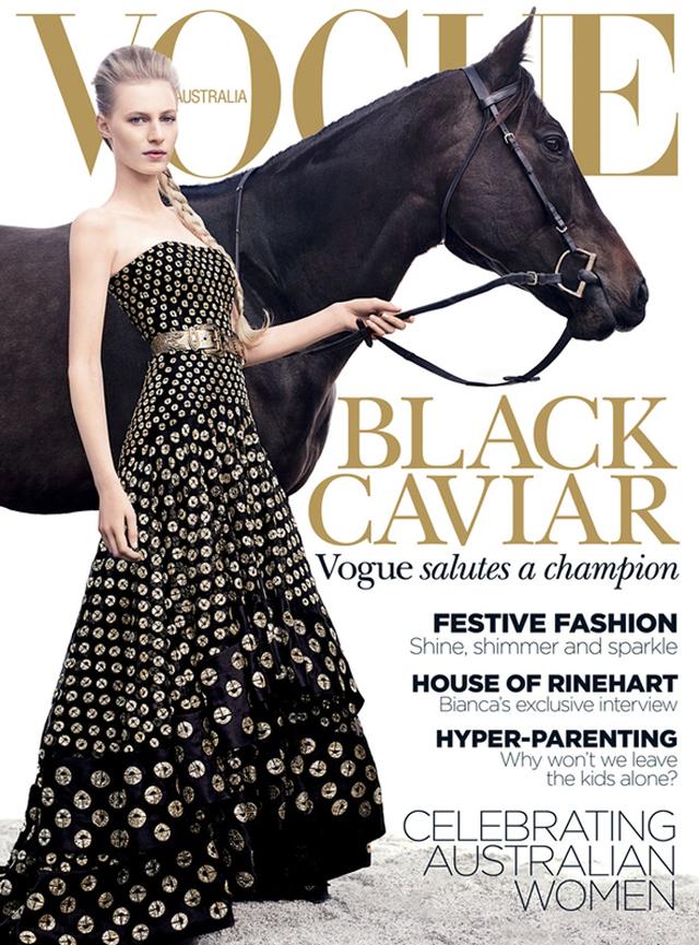 Alexander McQueen Resort 2013 cover Vogue Australia