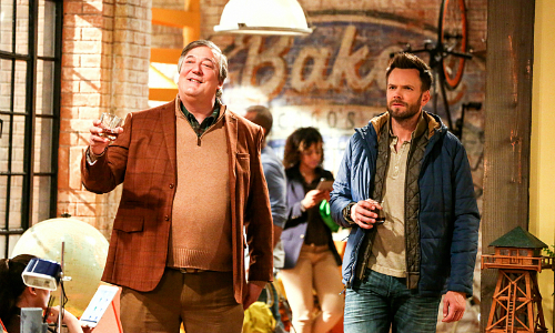 Stephen Fry and Joel McHale star in the new comedy, The Great Indoors.