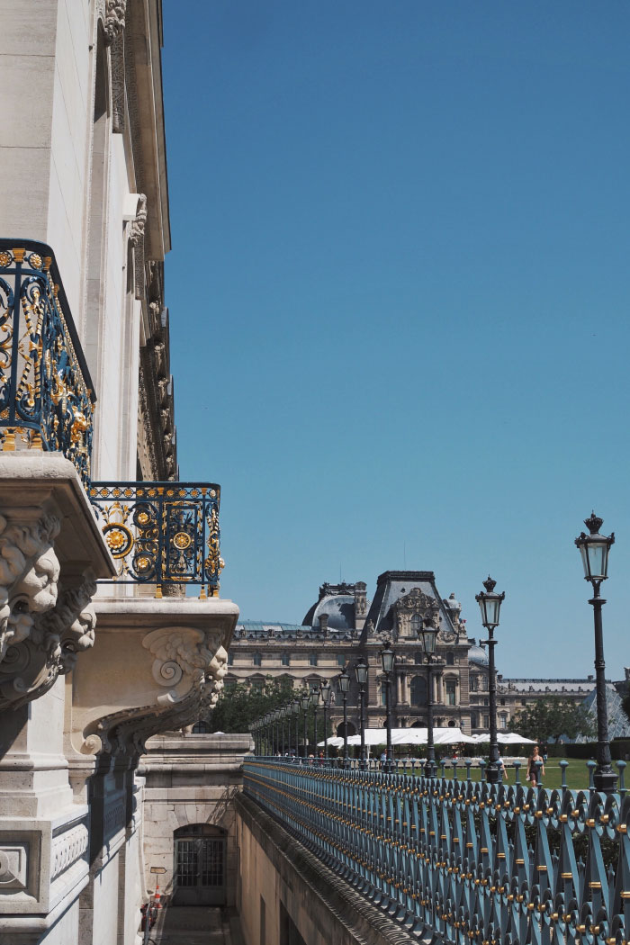 Le quartier du Louvre à Paris