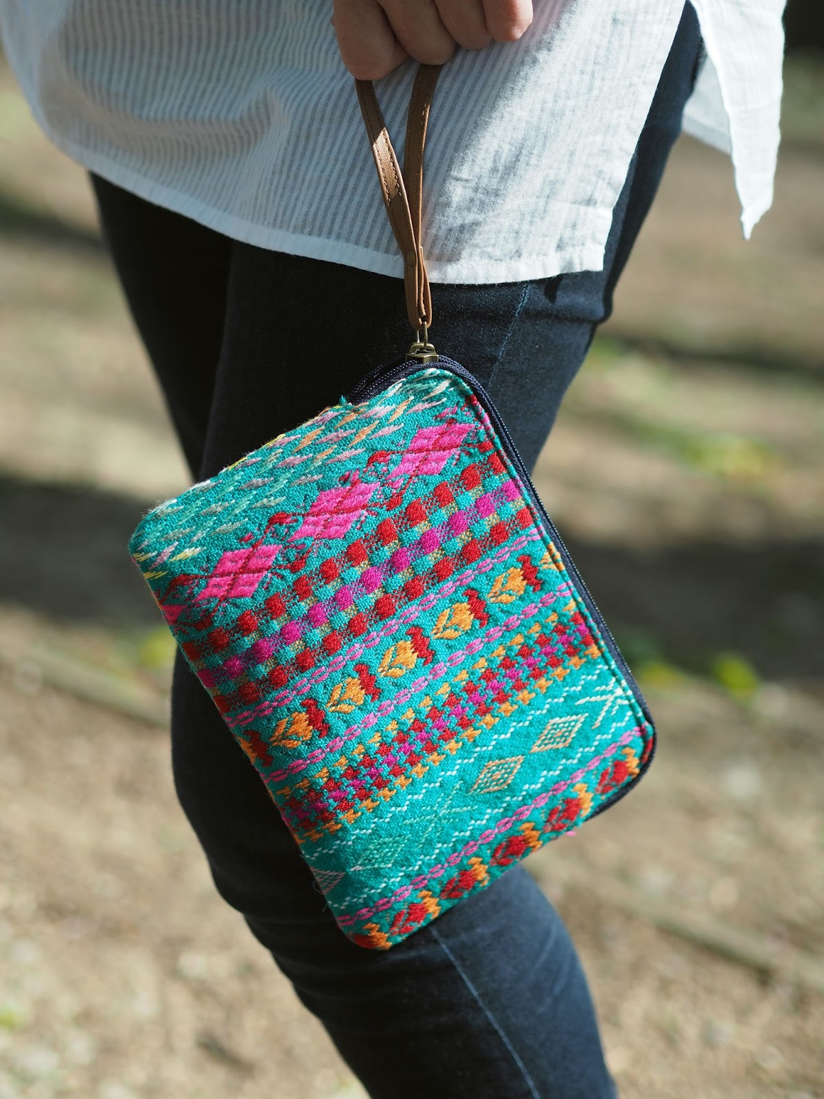 Aztec inspired clutch bag