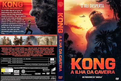 Filme Kong - A Ilha da Caveira (Kong - Skull Island) DVD Capa
