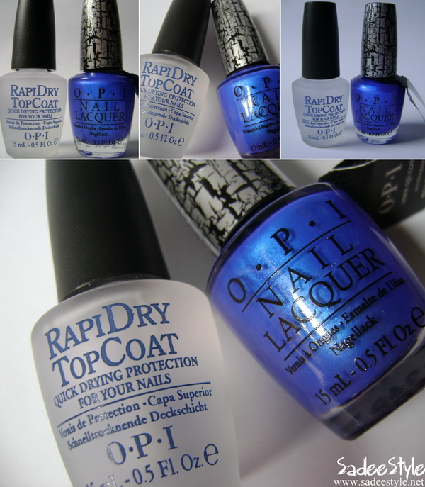 Blue Shatter NL E56 & Rapidry Top Coat by OPI