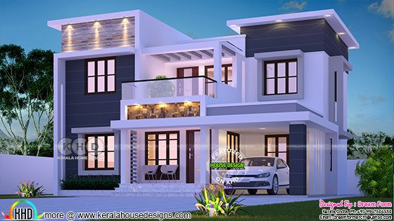 1953 square feet 4 bedroom flat roof home architecture