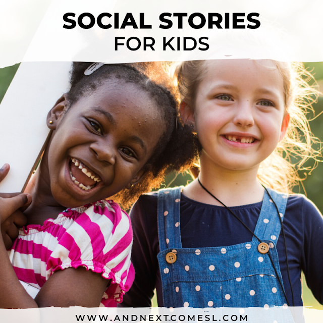 Social stories for kids - tons of free social story printables!
