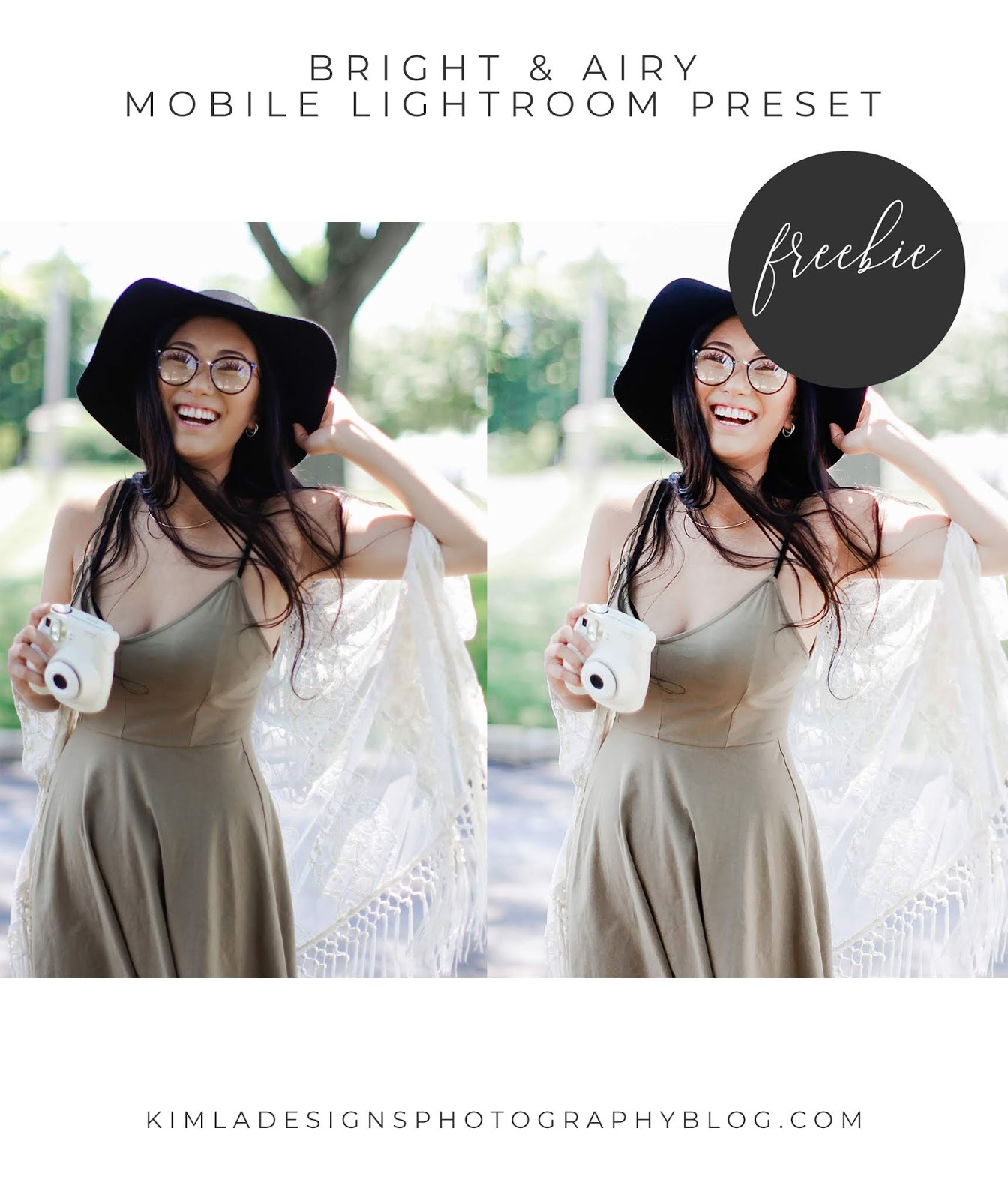 Free Bright & Airy Lightroom Mobile Preset for Photographers