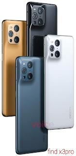 هاتف اوبو OPPO find x3pro سعر ومميزات يدعم 2G و الجيل 3G و الجيل 4G والجيل 5G.
