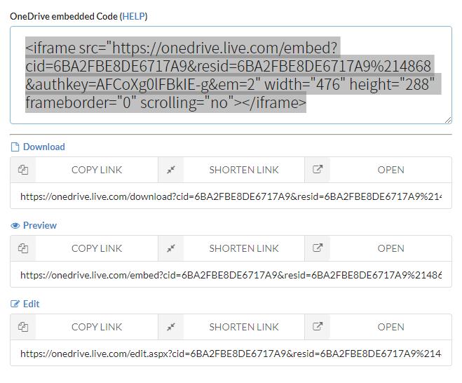 OneDrive雲端硬碟檔案直接下載連結產生器/ OneDrive File Download Link
