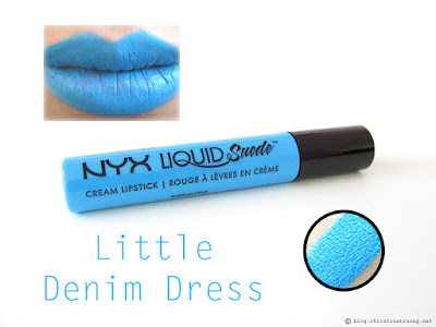 NYX Liquid Suede Cream Lipstick Review Swatches LSCL16 Little Denim Dress