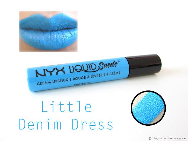 NYX Liquid Suede Cream Lipstick Review Swatches LSCL16 Little Denim Dress
