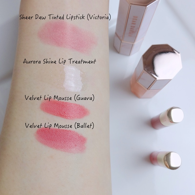 Dear Dahlia velvet mousse swatches