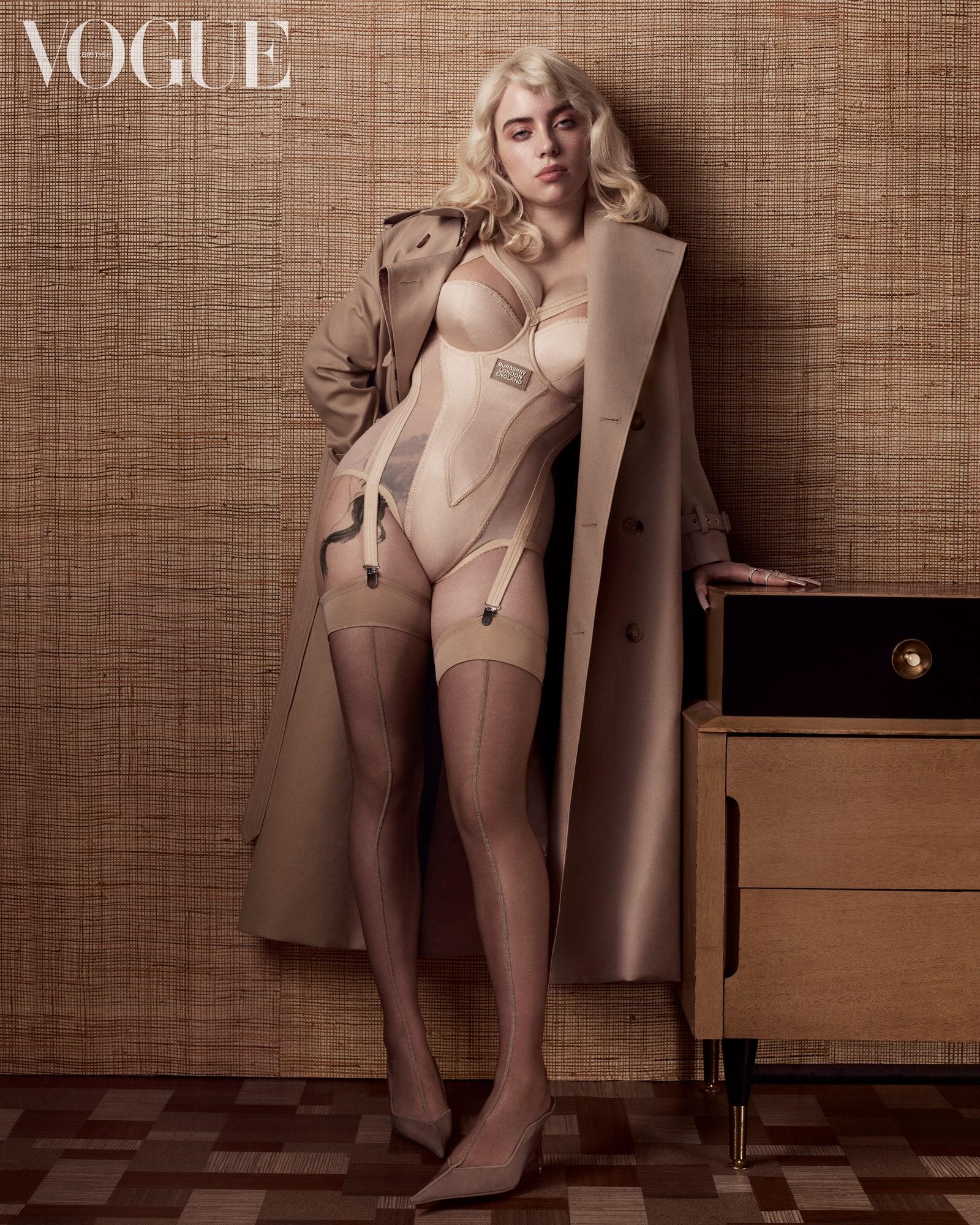Billie Eilish strips to lingerie for Vogue UK June 2021