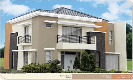 tagteam warna cat rumah minimalis eksterior dulux