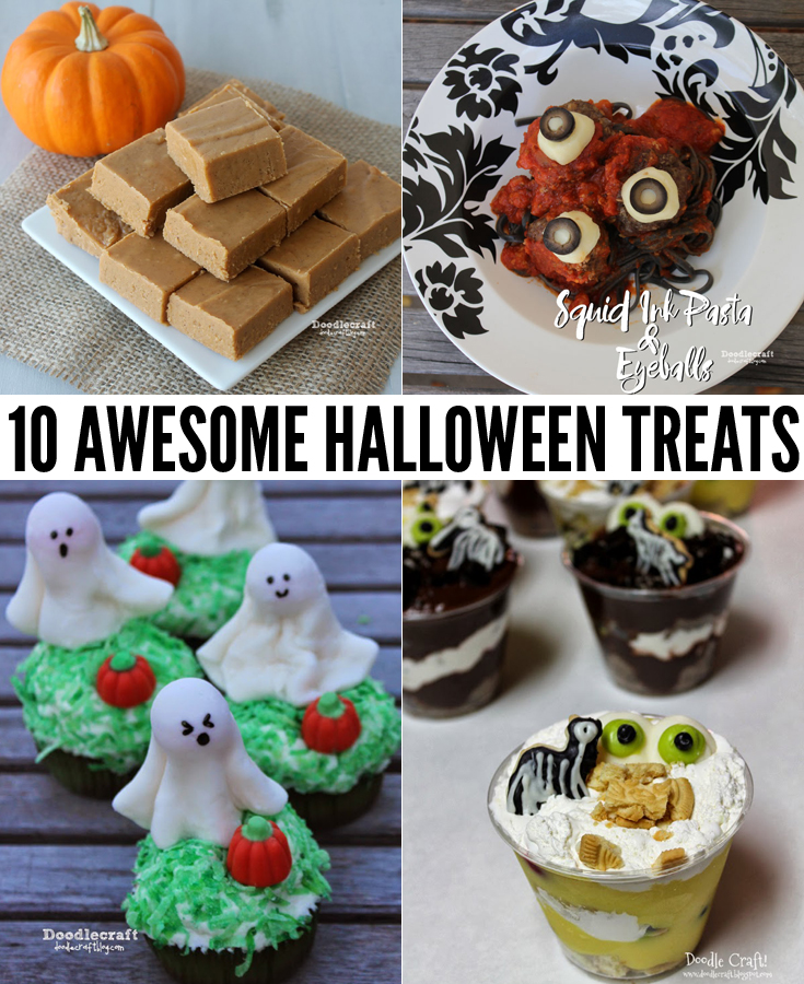 Make pumpkin fudge, eyeball trifle, squid ink pasta, alien truffles and more--perfect for the entire family!