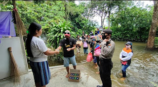 Komunitas BG, LSN, PR, dan PSHT Kompak Bantu Warga Terdampak Banjir