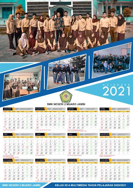 Download Template Kalender 2021 Masehi dan Hijriyah Format ...