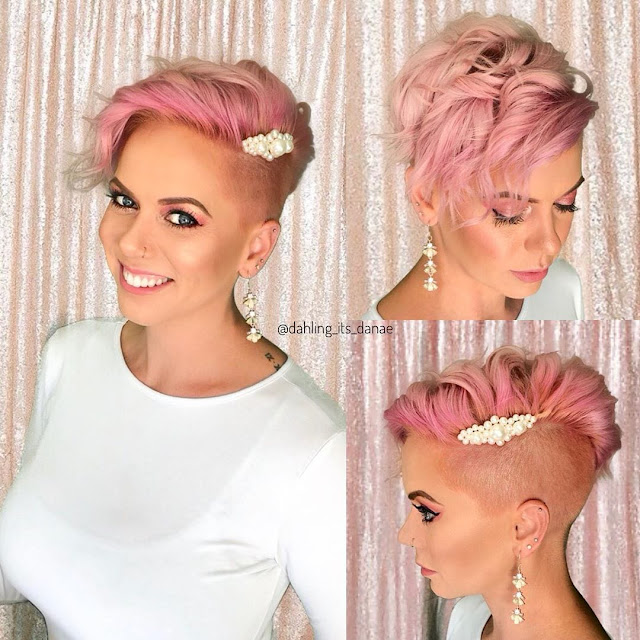 Short Hairstyles 2020 Female with Shaved Sides
