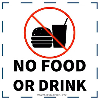 No food or drink sign printable