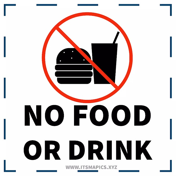Free Image - No Food or Drink Sign - Printable No Food or Drink Allowed Sign