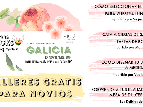 Talleres gratis Mi Boda Rocks Experience Galicia