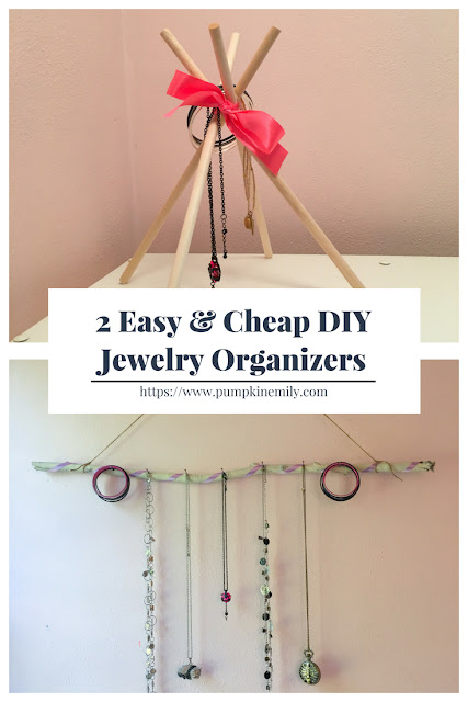 2 Easy & Cheap DIY Jewelry Organizers