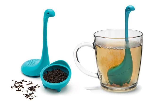 El Infusor de Té Bebé Monstruo del Lago Ness es la forma mas linda para preparar el té