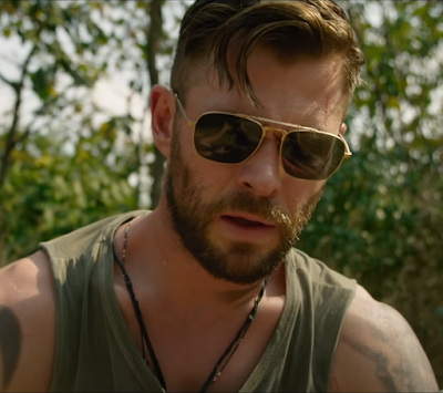 Chris Hemsworth Aviator Sunglasses from Extraction