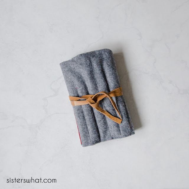 handicraft sewing felt pencil case