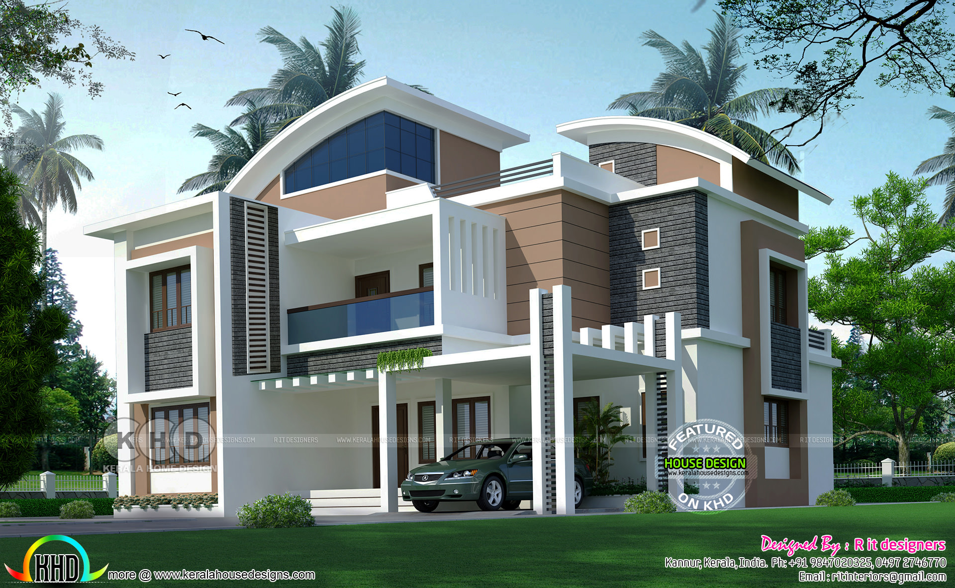 5 bedroom 3212 sq-ft house architecture - Kerala home ...